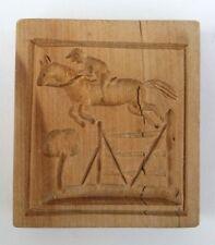 altes Holz Model Springerle Spekulatius Backform Springreiter Spring Pferd