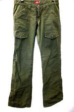 Ladies DICKIES Green Combat Military Trouser Pants UK 14 W34  - N23