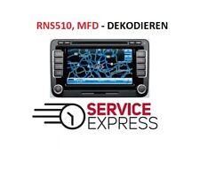 VW Safe PIN code RNS 510 | MFD | MFD2 Dekodieren Decode