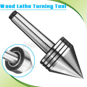 MT2 60° Live Lathe Steel Bearing Tailstock Center For Metal & Wood Turning Tool