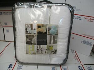 MADISON PARK 4 PIECE DUVET SET WHITE COLOR KING / CAL KING NEW FAST SHIPPING
