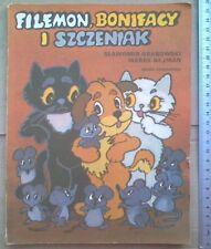 Filemon, Bonifacy i szczeniak - S.Grabowski,M.Nejman(90MO) Polish book bajka kot