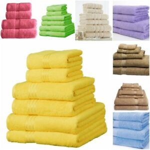 Towels Set 100% Cotton Bath Sheet Hand Large Bale 500 GSM Bathroom & 6 Piece Set