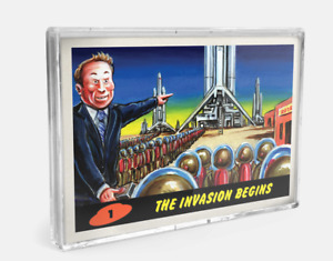 2021 Topps Mars Attacks: Invasion 2026 Elon Musk 10 Card Set Print Run 1044