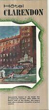 Vintage Brochure for Hotel Clarendon Quebec City Canada