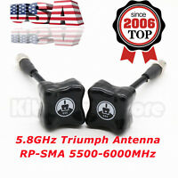 2x For TBS Team BlackSheep 5.8GHz Triumph Antenna RP-SMA 5500-6000MHz For FPV