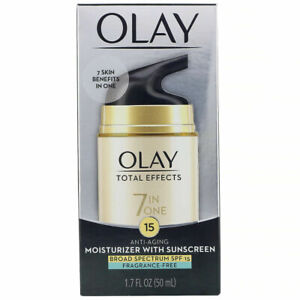 Olay TOTAL EFFECTS 7 in 1 FRAG FREE Moisturizer SPF 15 1.7oz Exp 06/21 Free Ship
