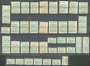Lot mit 65 Wertmarken für Butter beim Butterhaus Beggerow in Meckl. 1945 RARITÄT