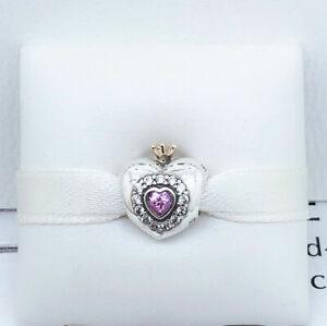 Genuine PANDORA PRINCESS HEART Sterling Silver Charm 791375 S925 ALE