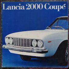 Prospekt Lancia 2000 Coupe RARITÄT 4 Sprachen