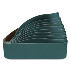 "4"" x 36"" Zirconia Metal Sanding Belts, 2 each: 36 40 60 80 & 120 Grit - 10 PACK"