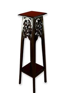 Beistelltisch Mahagoni Holz Tisch Massivholz Blumenständer Telefontisch kolonial