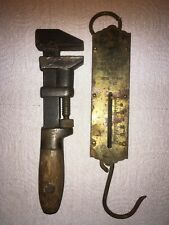 Rare Antique Pipe Wrench and Scale