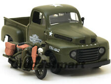 1948 Ford F-1 Harley Davidson F-1 Wla Flathead 1:24 Verde Militar 32185