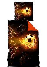 Fußball Bettwäsche *** Feuerball *** 135x200cm / 80 x 80 cm  WM
