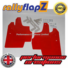 rallyflapz per Skoda Fabia VRS (03-07) PARAFANGHI PARAFANGHI qty4 rosso 4mm PVC