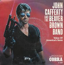 "7"" 45 TOURS HOLLANDE BOF/OST ""Cobra"" JOHN CAFFERTY ""Voice Of America's Sons 1985"
