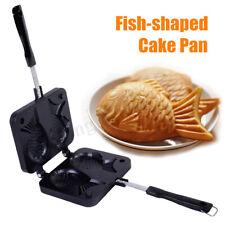 Fish Shaped Taiyaki Waffle Pan Maker Bakeware Mold Egg Cake Oven Non Stick  US