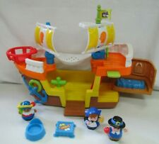 Fisher Price Little People MAYFLOWER SHIP Thanksgiving Pilgrim Boat Complete Set