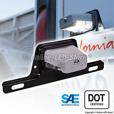 OLS LED License Plate Lights w/Bracket Trailer RV Truck Boat - Gray Housing