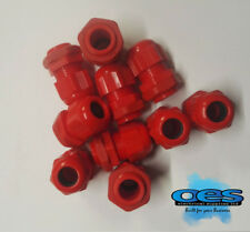 SECTOR 18 x 20MM RED NYLON CABLE GLANDS WITH LOCKNUTS