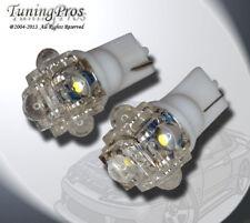 (1 Pair) Set of 2 pcs Clock T10 Wedge 5 Flux White LED Light Bulbs 168 194