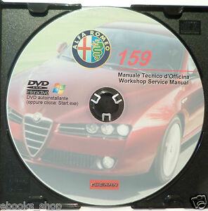 DVD MANUALE OFFICINA ALFA ROMEO 159 1.8-1.9-2.2-3.2JTS-1.9 JTD 8V-16V-2.4JTD 20V