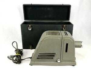 RARE Vintage 1940's ARGUS Slide Projector Model DP Tested Working W/ Case