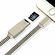 Memory Card Reader, Apple lightning cable, 2in1 USB cord adapter