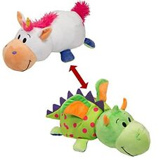 "Flip A Zoo (DRAGON + UNICORN)  2-in-1 Stuffed Animal 16"" inch FLIPAZOO Huggable"