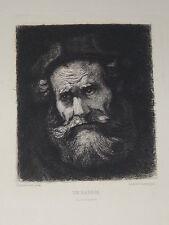 EAU-FORTE XIXème de Léopold FLAMENG d'après REMBRANDT - UN RABBIN
