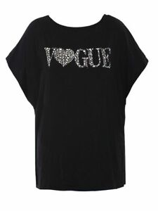Women's Ladies Vogue Leopard Gold Foil Oversized Batwing Fashion Top New