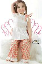 Spring Summer Hand Smocked Girls Capri and Top Set Outfit