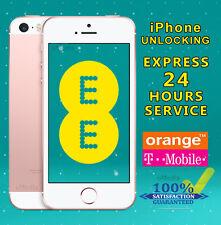 Apple iPhone 4 4S & 5C Unlocking Service For UK EE Orange Tmobile - 24Hrs