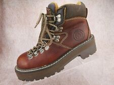 Vtg 90s Y2K Candies Brown Leather Chunky Hiker Platform Club Streetwear Boots 6