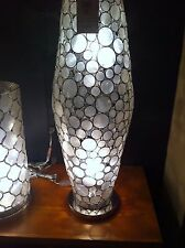 New Pottery Barn Capiz Shell Circles Cylinder lamp Sold out at PB Authentic