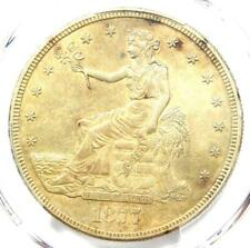 1877-S Trade Silver Dollar T$1 Coin - PCGS AU Detail - Rare Certified Coin!