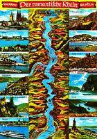 Der romantische Rhein von Mainz bis Köln , Ansichtskarte