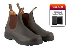 Blundstone 550 Boots Mens Chelsea Boots Walnut Brown Leather Dress Casual Boots