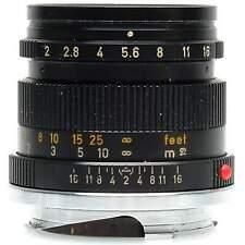 Leica 50mm Summicron-M Lens (Black)
