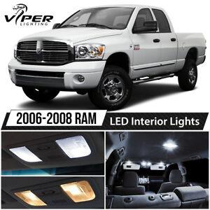 2006-2008 Dodge RAM 1500 2500 3500 White LED Interior Lights Package Kit