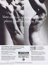 PUBLICITE ADVERTISING 095 1993 Pirelli Bedding matelas