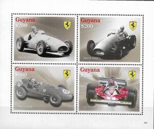 "GUYANA - 2009 MNH "" Vintage Racing CARS - FERRARI"" Souvenir Sheet !!!"