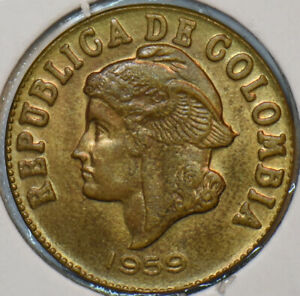 Colombia 1959 2 Centavos 297459 combine shipping