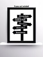Tv Shows Riverdale Friends Stranger Things Print Wall Hanging Quotes Gift Decor