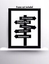 Programmi televisivi Riverdale amici successe cose più strane Stampa Muro Appeso preventivi Regalo Decor