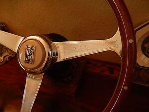 "Rolls Royce Silver Shadow II Wood Steering Wheel 15"" Nardi NOS NEW"
