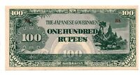 1942 Burma 100 Rupees Japanese Invasion Money JIM Pick M17 Uncirculated