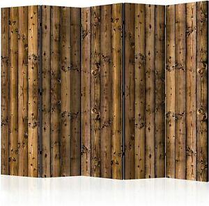 "murando Room Divider Wood Boards 225x172 cm /88.58""x67.72"" Single-Sided Folding"