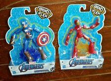 Hasbro Bend and Flex Marvel Avengers: CAPTAIN AMERICA & IRON MAN Figures!